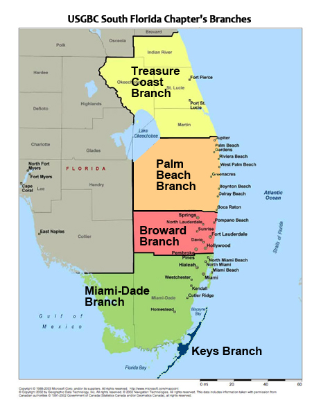Map Of Florida School Districts.Usgbc South Florida Chapter Branches